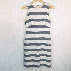 J. Crew Blue and white striped dress.